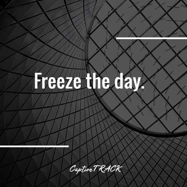 Freeze the day.