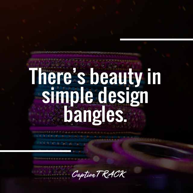 There's beauty in simple design bangles.