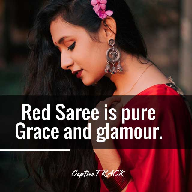 Red Saree is pure Grace and glamour.